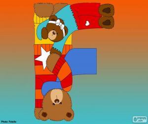 Układanka Litery F, niedźwiedzie