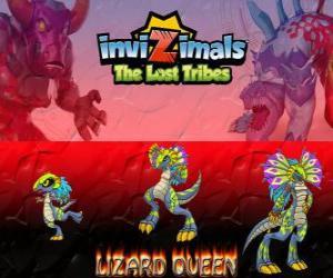 Układanka Lizard Queen, najnowszej ewolucji. Invizimals Zaginione Plemiona. Królowa gadów to piękne i Mądry