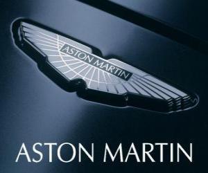 Układanka logo Aston Martin, brytyjskiego producenta samochodów