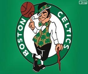 Układanka Logo Boston Celtics, zespół NBA. Dywizja Atlantycka, Konferencja wschodnia
