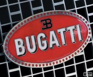 Układanka Logo Bugatti, francuska Marka włoskiego pochodzenia
