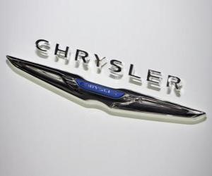 Układanka logo Chrysler. Marki samochodów z Stany Zjednoczone Ameryki