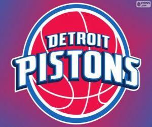 Układanka Logo Detroit Pistons, zespół NBA. Dywizja Centralna, Konferencja wschodnia