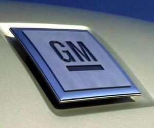 Układanka Logo GM czy General Motors. Marka samochodów w USA