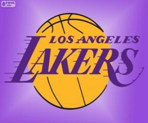 Układanka Logo Los Angeles Lakers, zespołem NBA, Dywizja Pacyfiku, Konferencja zachodnia