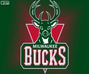 Układanka Logo Milwaukee Bucks, zespół NBA. Dywizja Centralna, Konferencja wschodnia