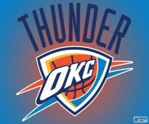 Układanka Logo Oklahoma City Thunder zespół NBA. Dywizja Północno-zachodnia, Konferencja zachodnia