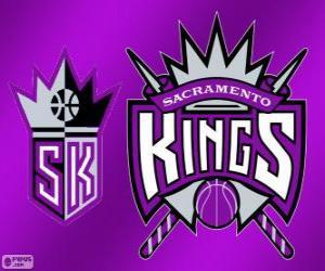 Układanka Logo Sacramento Kings, zespół NBA. Dywizja Pacyfiku, Konferencja zachodnia