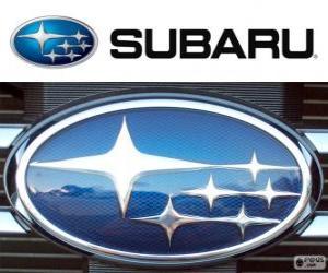 Układanka logo Subaru, japońska marka samochodów