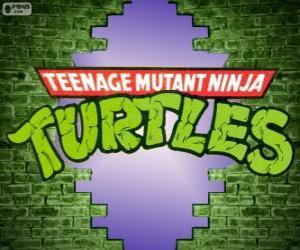 Układanka Logo to Żółwie Ninja