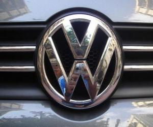 Układanka Logo Volkswagen, niemiecka marka samochodu