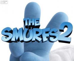 Układanka Logo z filmu Smerfy, The Smurfs 2
