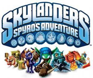 Układanka Logo z gry wideo od Spyro smoka, Skylanders: przygody Spyro