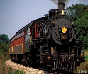 Układanka Lokomotywa pociągu parowego