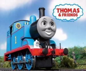 Układanka lokomotywa Tomek jest para lokomotywa z numerem 1. Tomek i przyjaciele