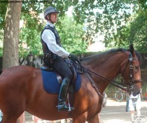 Układanka Londyńskiej policji na koniu