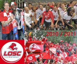 Układanka LOSC Lille, mistrz Francji w piłce nożnej, Ligue 1 2010-2011