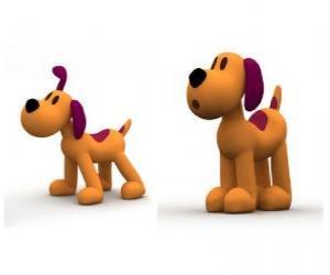 Układanka Loula pies jest maskotka Pocoyo