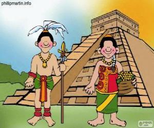 Układanka Mężczyzna i kobieta Majów