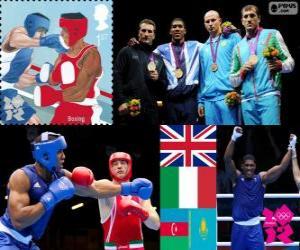 Układanka Męskie superciężka boks podium Londyn 2012