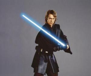 Układanka Młoda Anakin Skywalker wraz z mieczem świetlnym