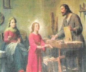 Układanka Młodego Jezusa pracował jako stolarz z ojcem Józefa