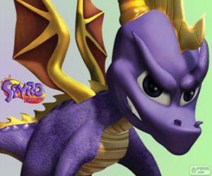 Układanka Młodego smoka Spyro, główny bohater gry Spyro Dragon wideo