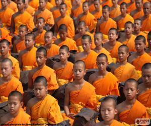 Układanka Młody buddyjskich mnichów