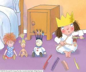 Układanka Mała księżniczka combing ich lalek