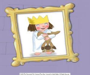 Układanka Mała księżniczka i jej pluszowego misia