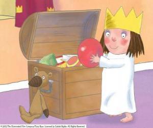 Układanka Mała księżniczka z jej zabawek