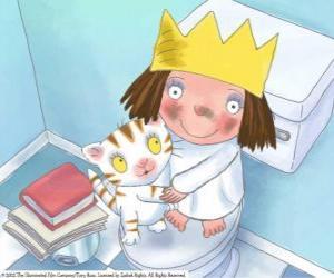 Układanka Mała księżniczka z nią Kot Puss
