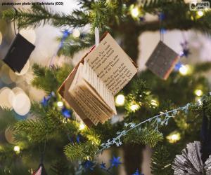 Układanka Małe świąteczne książki ozdobne