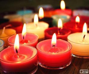 Układanka Małe świeczki, Boże Narodzenie