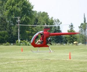 Układanka Mały helikopter z pilotem