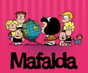 Układanka Mafalda i przyjaciele