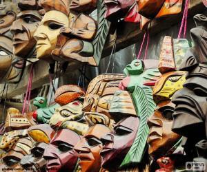 Układanka Majów maski