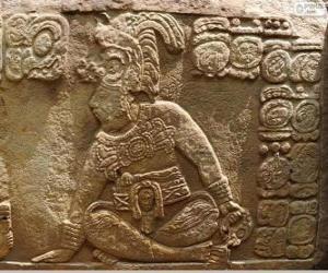Układanka Majów rysunki wyryte na kamiennych