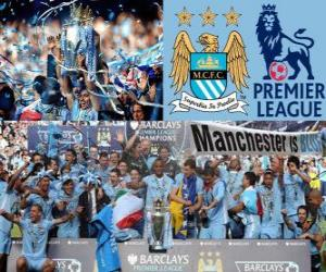 Układanka Manchester City, Mistrz Premier League 2011-2012, Football League z Anglii