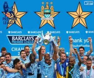 Układanka Manchester City, Premier League 2013-2014 mistrz ligi piłki nożnej w Anglii