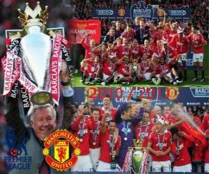 Układanka Manchester United, mistrz ligi angielskiej piłki nożnej. Premier League 2010-2011