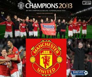 Układanka Manchester United, Mistrz Premier League 2012-2013, Football League z Anglii