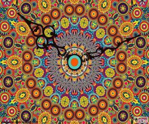 Układanka Mandala, zegar