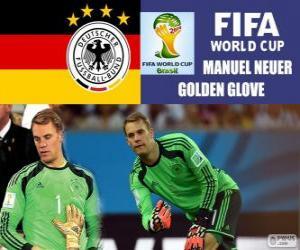 Układanka Manuel Neuer, złota rękawica. Brazylia 2014 roku Puchar Świata