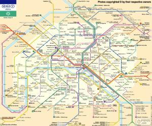 Układanka Mapa metra w Paryżu