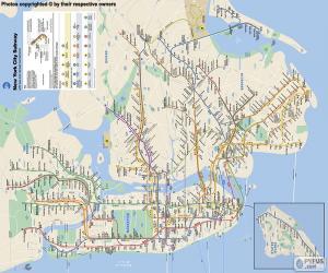 Układanka Mapa metro w Nowym Jorku