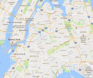 Układanka Mapa Nowy Jork