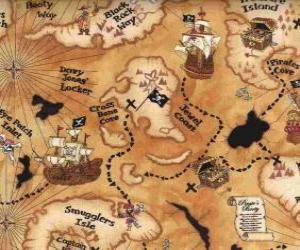 Układanka Mapa skarbów