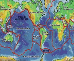 Układanka Mapa tektoniczna
