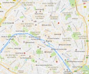 Układanka Mapa w Paryżu